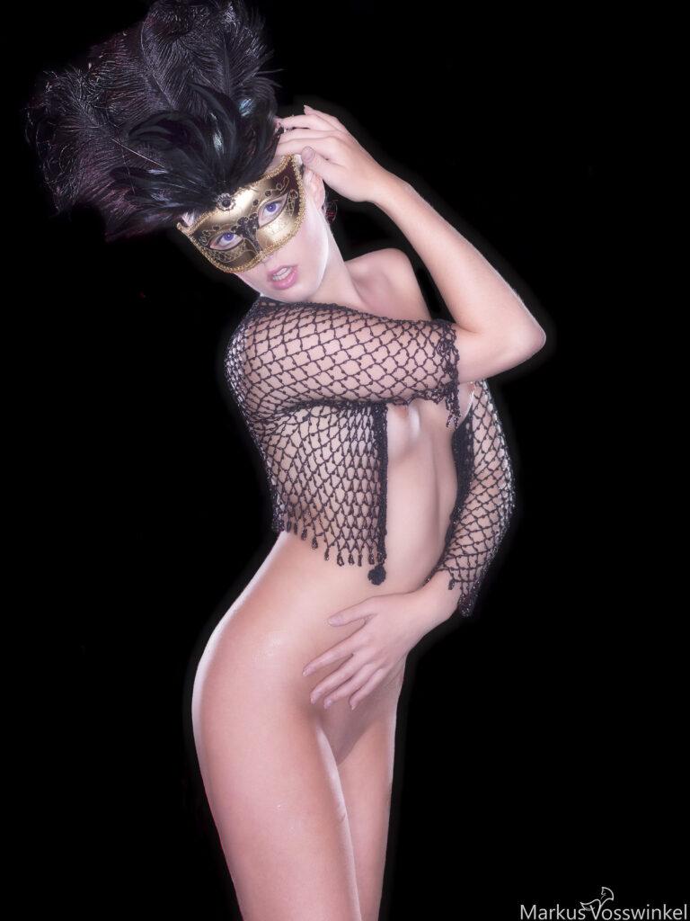 half body portrait photography, Carnival of Venice