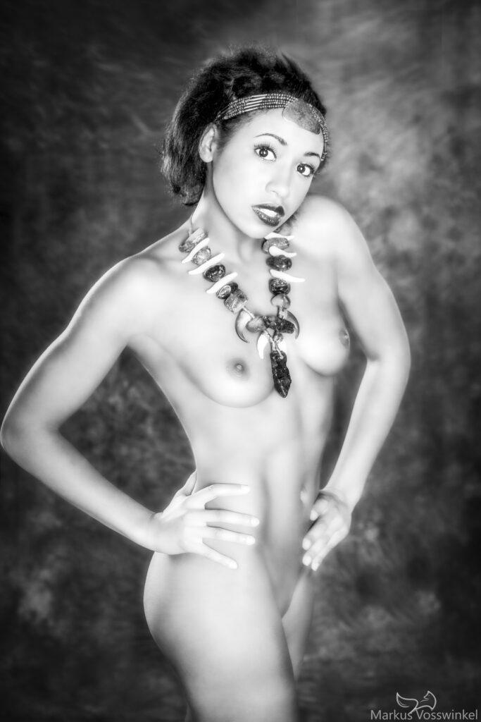 half body portrait photography, amazon lady