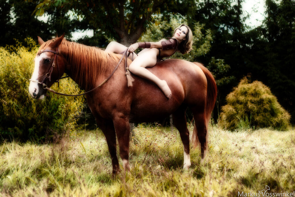 outdoor photography, horsewoman