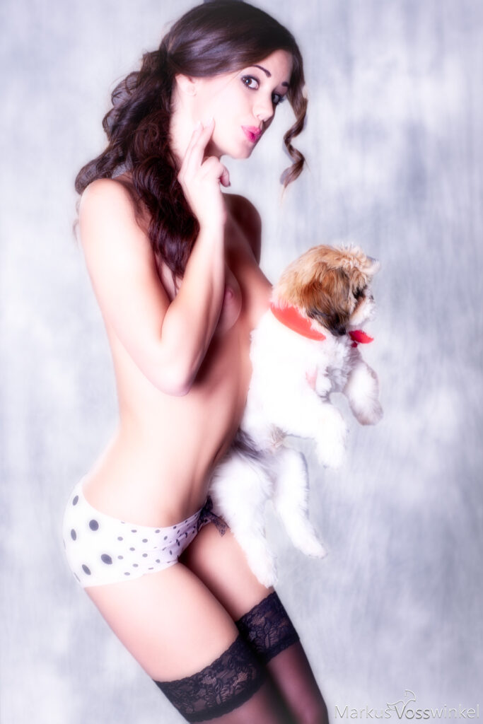 pin up photography, pups of love