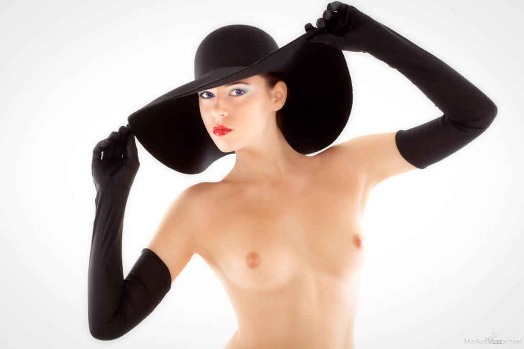 female portrait in hat