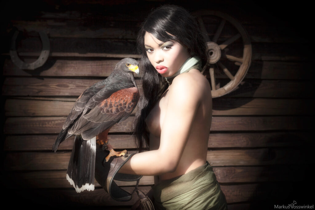 The Woman Falconer and the Bird of Prey